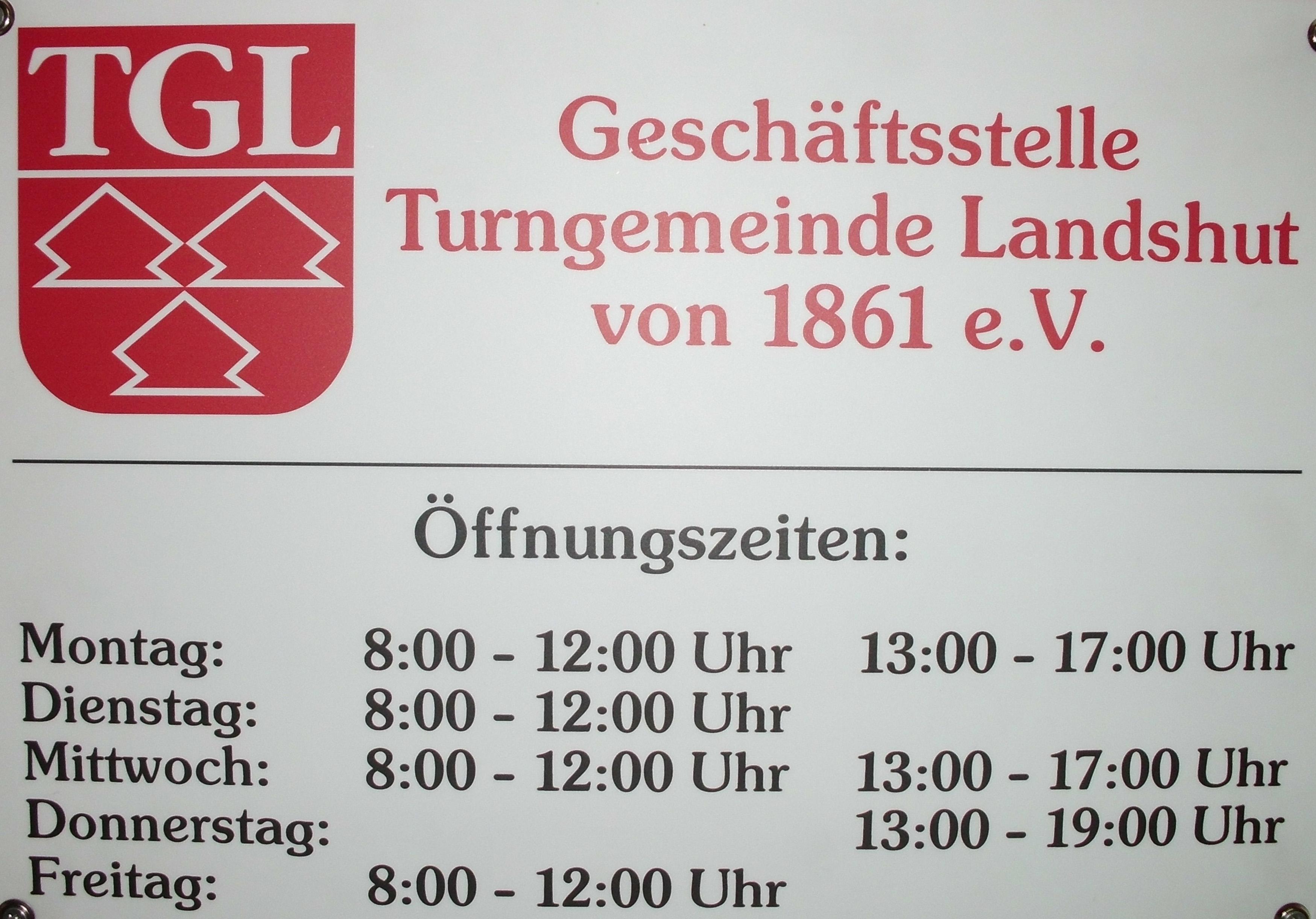 Neue Öffnungszeiten der TGL-Geschäftsstelle