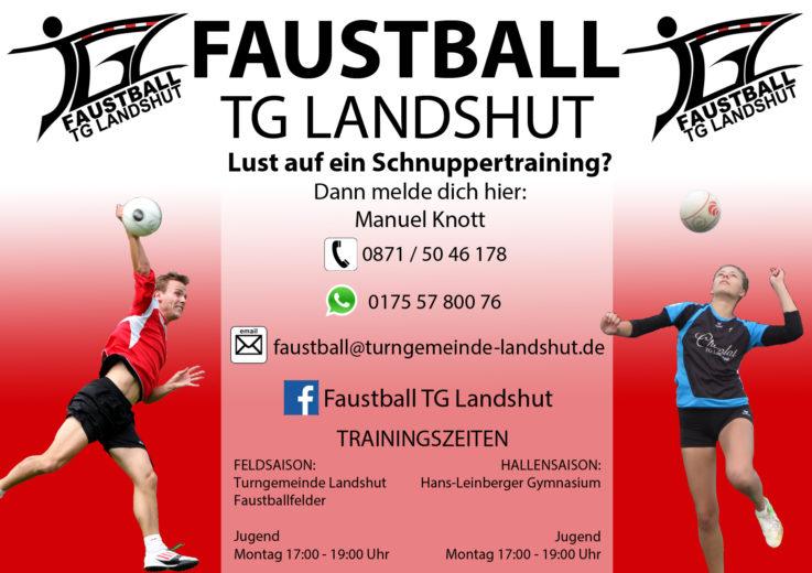 Faustball TG Landshut Probetraining Jung Alt Faustball!