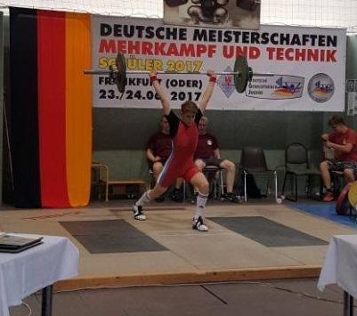 TG-Hebernachwuchs gut dabei bei der Deutschen Meisterschaft