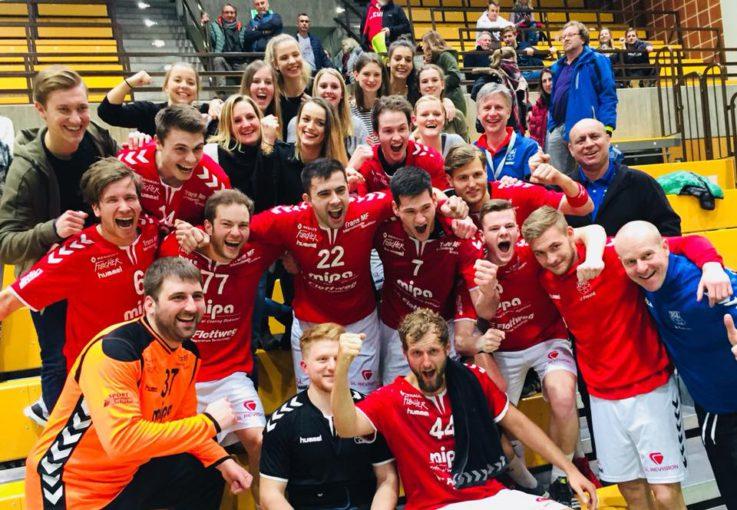 Handball Herren1: Handballer der TG Mipa Landshut setzen mit 28:27-Heimsieg gegen den Rangzweiten Bayreuth ein Ausrufezeichen im Bayernliga-Abstiegskampf
