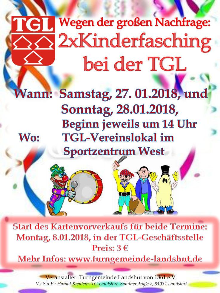 Ausverkauft: Keine Karten mehr für TGL-Kinderfasching