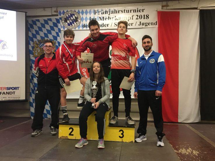 TG Jugend Mannschaftssieger beim Bayerischen Frühjahrsturnier im Gewichtheben