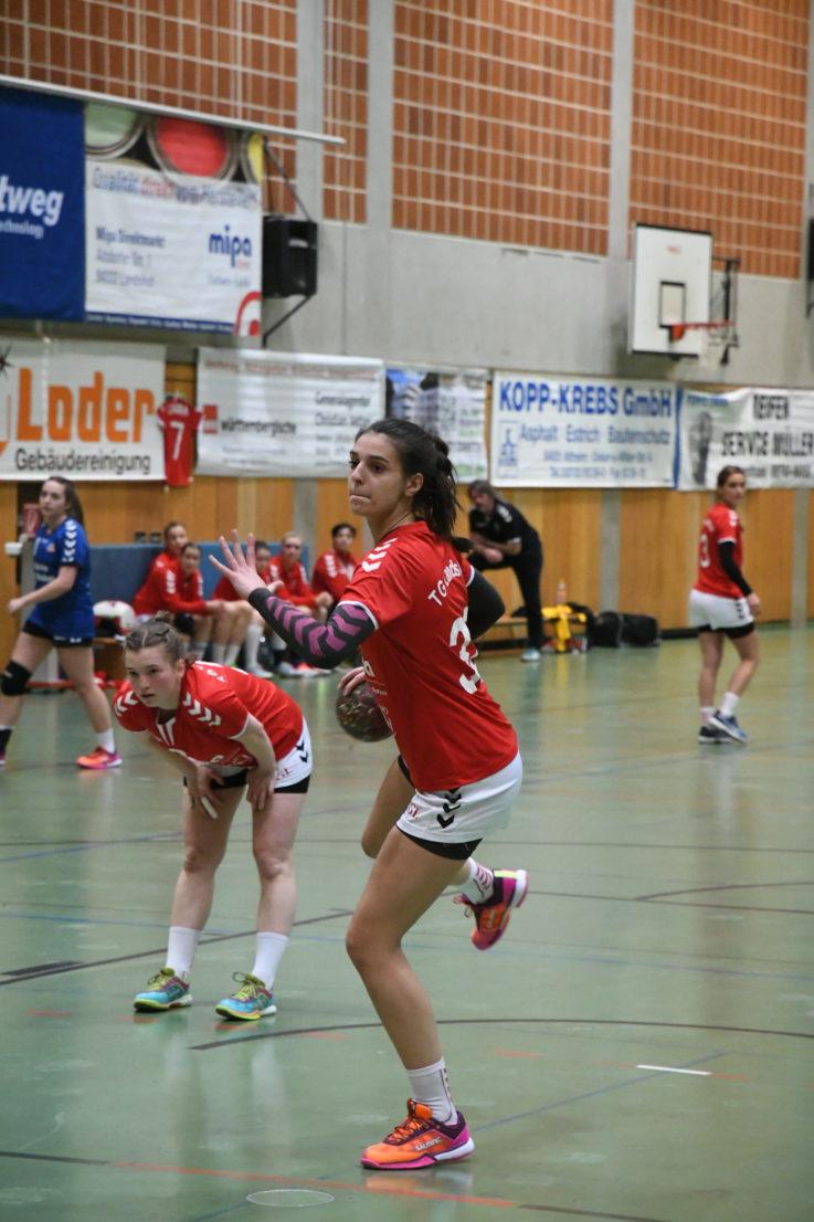 Handball Damen1: Wegweisendes Nachbarderby für TG-Handballdamen
