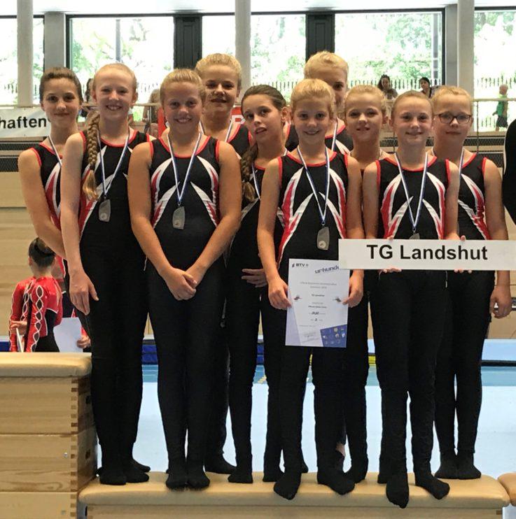 Bayerische Meisterschaften TeamGym in Unterschleißheim am 30. Juni 2018