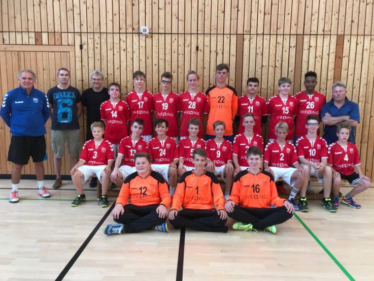 Handball mC:  mC-Jugend startet mit neuen Trikots in die neue Saison