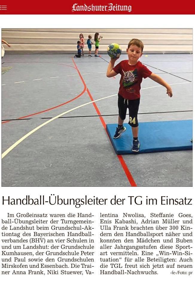 Handball: Grundschulaktionstag