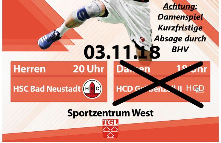 Handball Damen1: Spiel vom Verband abgesagt..!!!