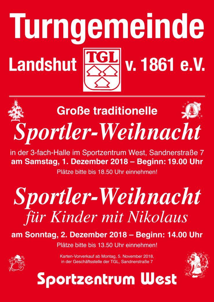 Kartenvorverkauf für TGL-Weihnachtsfeiern