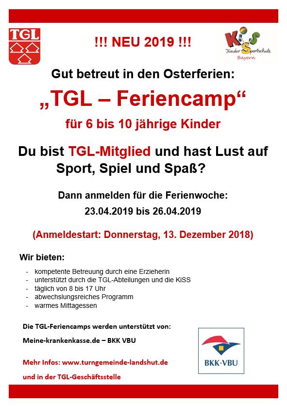 Anmeldung Feriencamp Ostern 2019