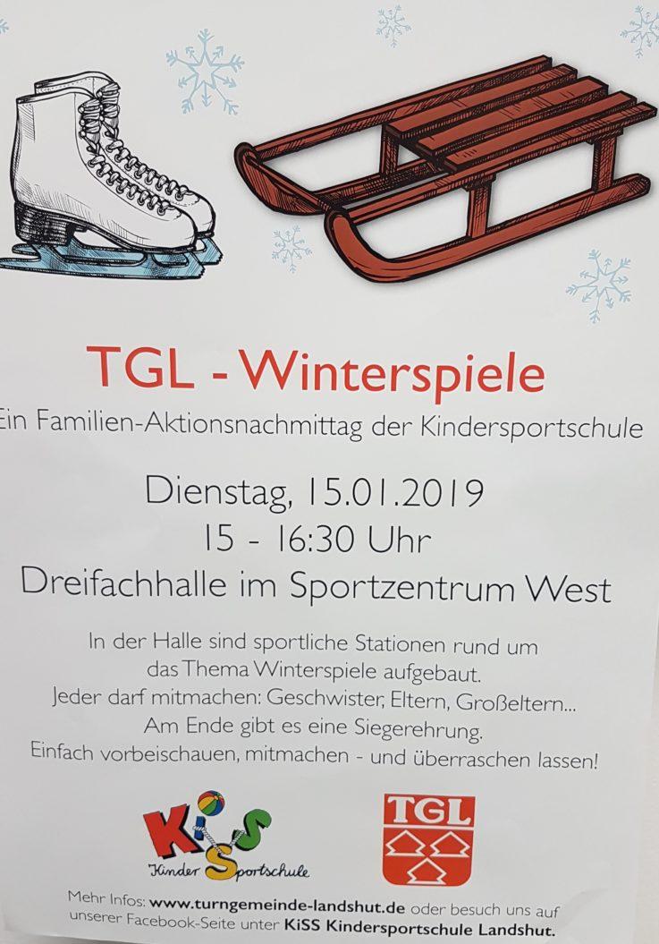 """""""TGL-Winterspiele"""" in der Halle: Aktionsnachmittag der Kindersportschule"""