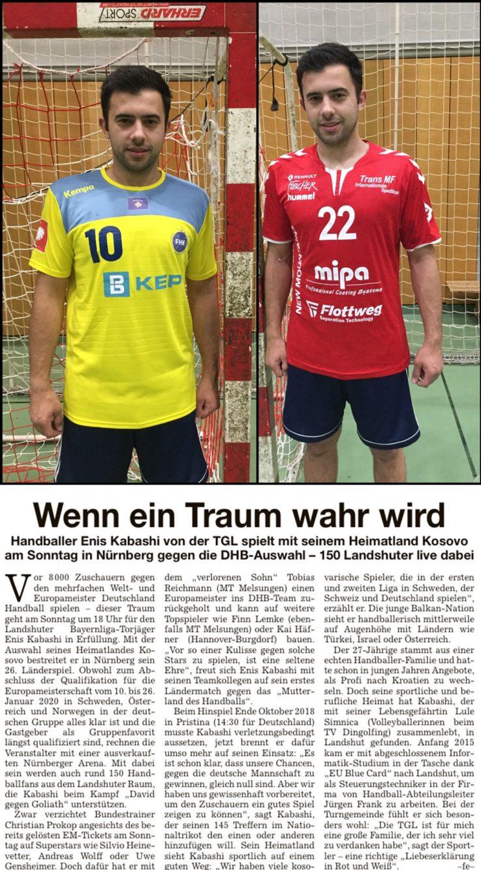 Handball: Wenn ein Traum wahr wird.