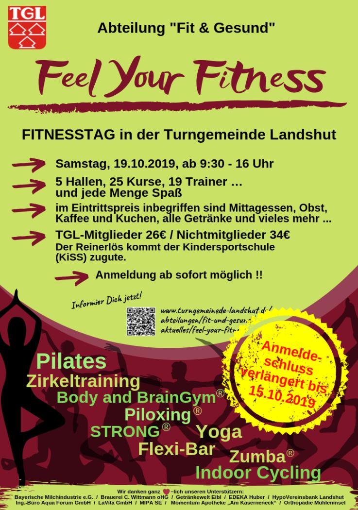 """Feel your Fitness"": Jetzt zu TGL-Fitnesstag anmelden"