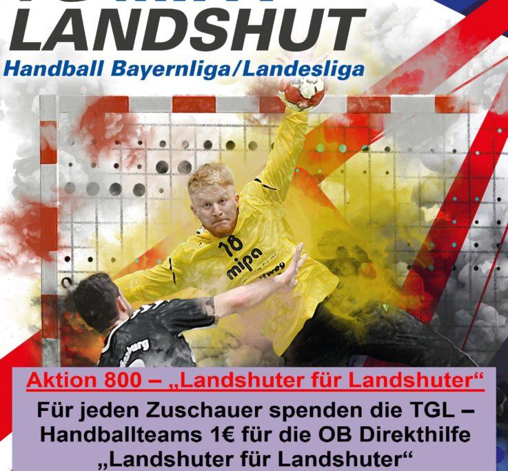 Handball: Heimspieltag mit Spendenaktion