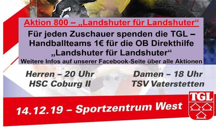"""Handball: Am Samstag """"Aktion 800"""" für OB-Direkthilfe – Kommt in Rot!"""