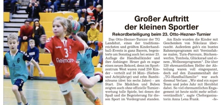 Handball: Kleine Handballer kamen ganz groß raus
