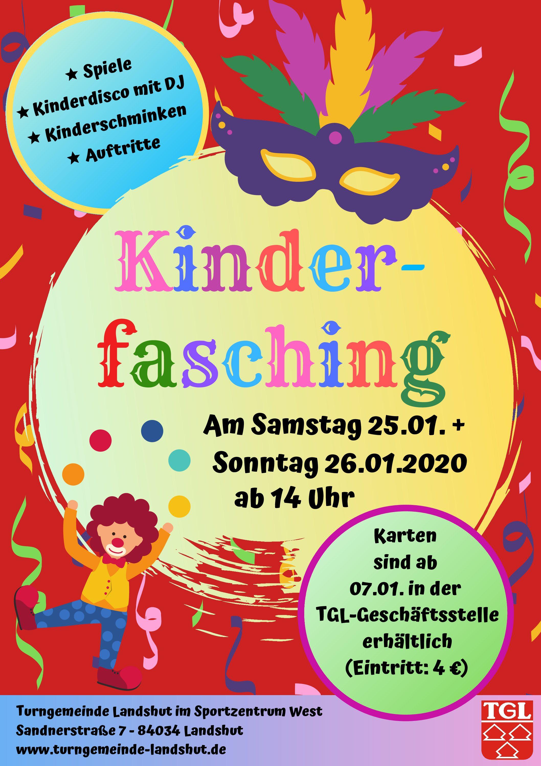 TGL-Kinderfasching: Beide Termine ausverkauft!