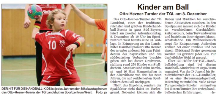 Handball: Sonntag – 23. OHT 2019