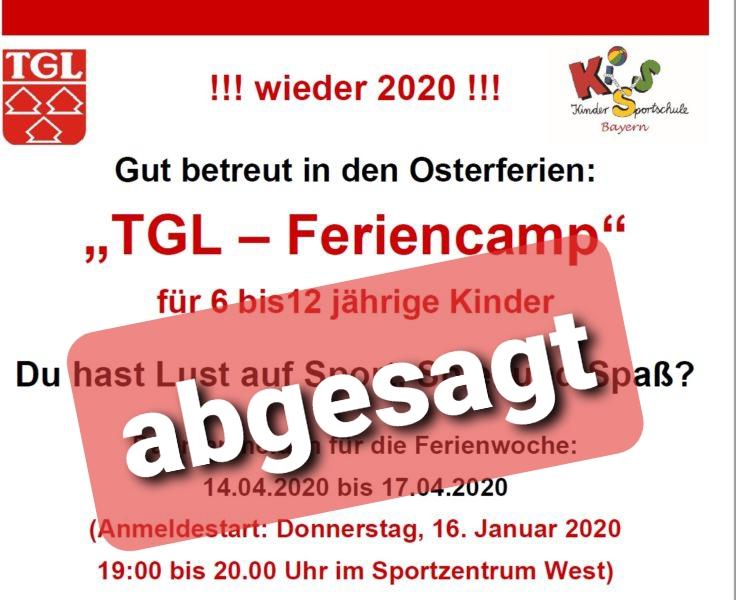 TGL-Osterrallye und TGL-Osterferiencamp entfallen