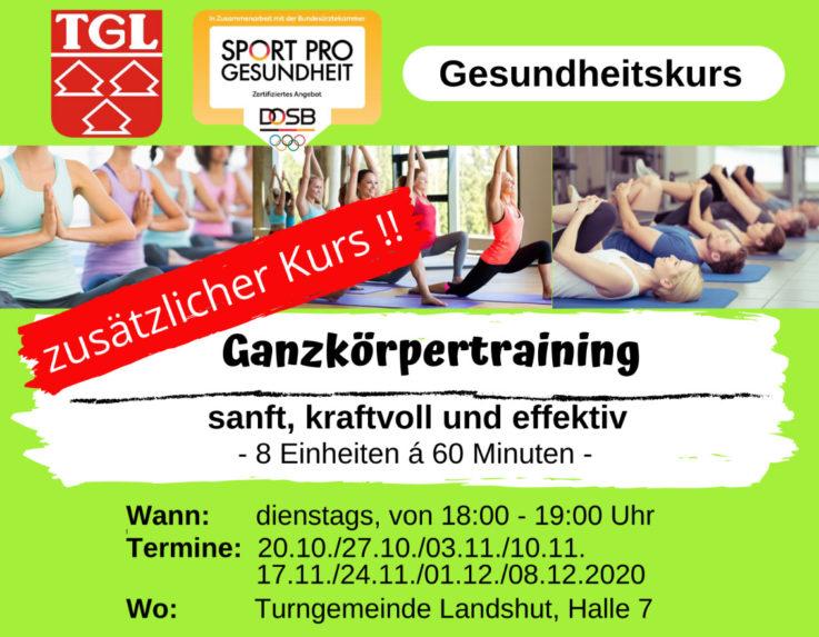 TGL-Gesundheits- und Präventionskurse: neue Kurse ab Oktober