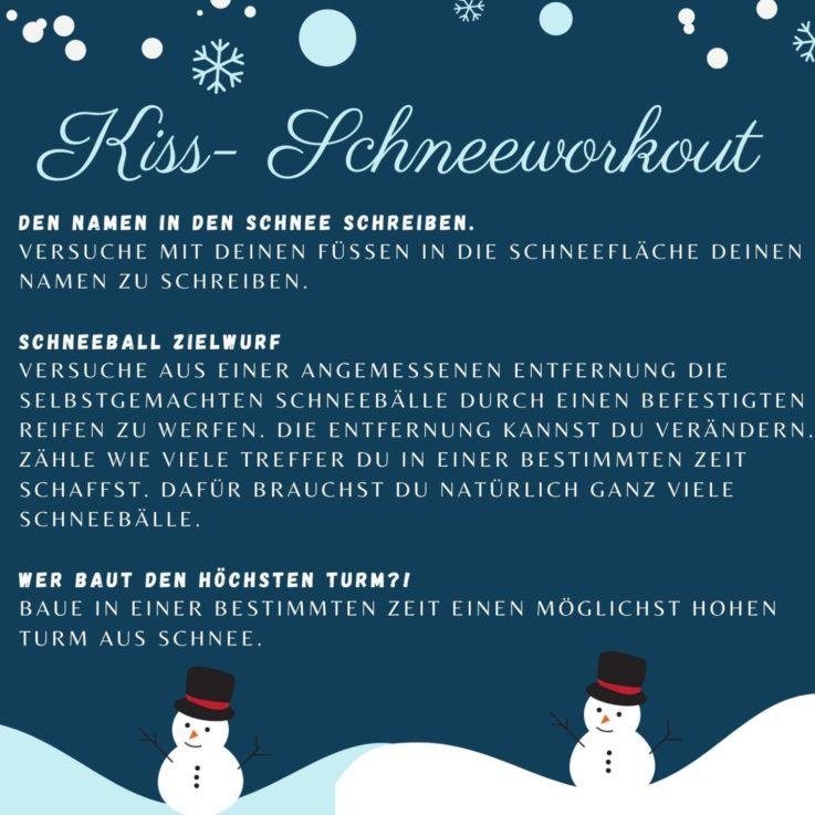 Kiss: Schnee-Workout