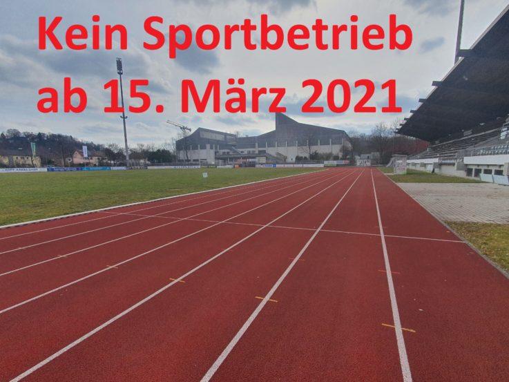 Weiter kein TGL-Sportbetrieb – Keine weiteren Lockerungen im Sport ab 22. März