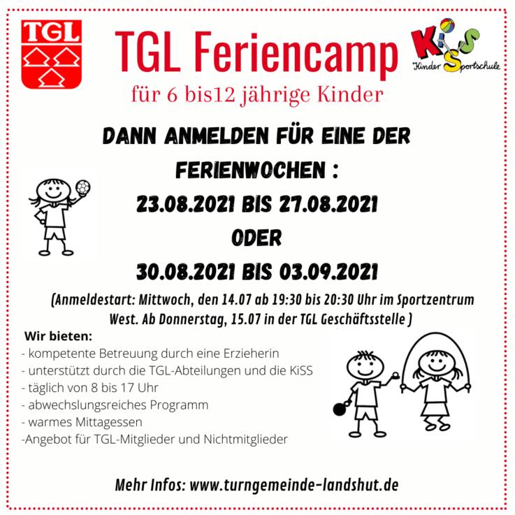 TGL Feriencamp Sommer 2021